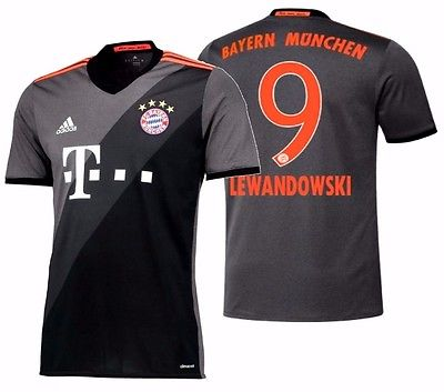 ADIDAS ROBERT LEWANDOWSKI BAYERN MUNICH AWAY JERSEY 2016/17.
