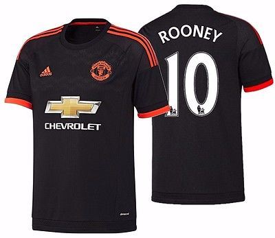 ADIDAS WAYNE ROONEY MANCHESTER UNITED 3RD JERSEY 2015/16.