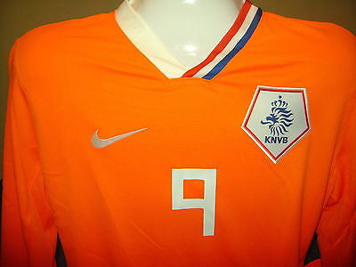 NIKE HOLLAND VAN NISTELROOY AUTHENTIC L/S HOME JERSEY PLAYER ISSUE EURO CUP 2008