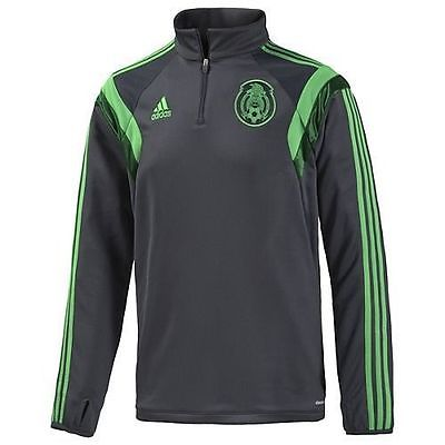 ADIDAS MEXICO 1/4 ZIP TRAINING TOP Gray/Green