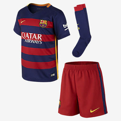 NIKE FC BARCELONA LITTLE BOYS HOME KIT 2015/16