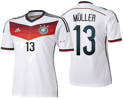 ADIDAS THOMAS MULLER GERMANY AUTHENTIC ADIZERO HOME JERSEY FIFA WORLD CUP 2014