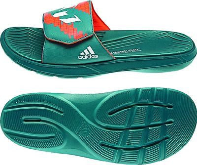 ADIDAS MESSI SLIDE SANDALS Power Teal/Core White/Solar