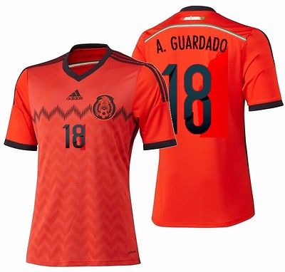 ADIDAS ANDRES GUARDADO MEXICO AWAY JERSEY FIFA WORLD CUP BRAZIL 2014.