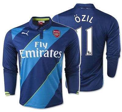PUMA MESUT OZIL ARSENAL LONG SLEEVE THIRD JERSEY 2014/15.
