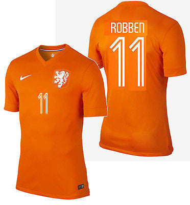 NIKE ARJEN ROBBEN NETHERLANDS AUTHENTIC HOME JERSEY WORLD CUP BRAZIL 2014 HOLLAND.