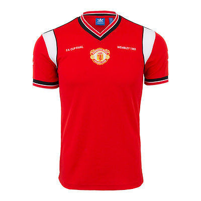 ADIDAS MANCHESTER UNITED FINAL FA CUP JERSEY 1985.