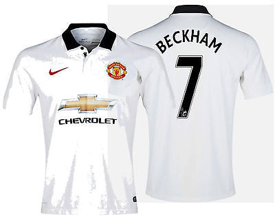 NIKE DAVID BECKHAM MANCHESTER UNITED AWAY JERSEY 2014/15.