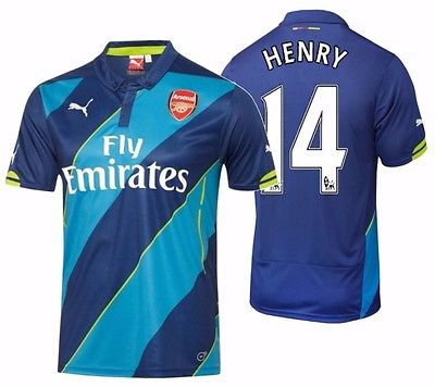 PUMA THIERRY HENRY ARSENAL THIRD JERSEY 2014/15.