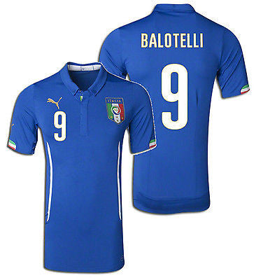 PUMA MARIO BALOTELLI ITALY AUTHENTIC MATCH HOME JERSEY FIFA WORLD CUP 2014