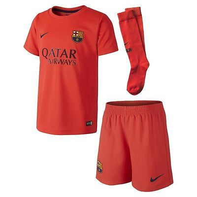 NIKE FC BARCELONA LITTLE BOYS AWAY KIT 2014/15