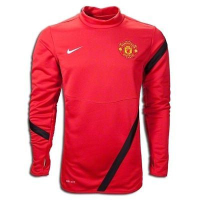 NIKE MANCHESTER UNITED MIDLAYER TOP Red/Black.