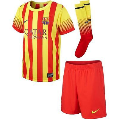 NIKE FC BARCELONA LITTLE BOYS AWAY KIT 2013/14