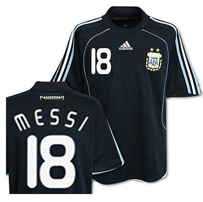 ADIDAS LIONEL MESSI ARGENTINA AWAY JERSEY 2008/09.