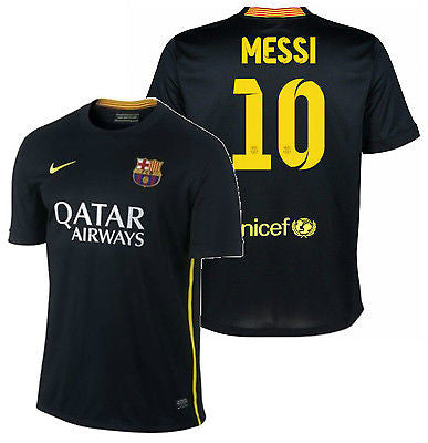 NIKE FC BARCELONA LIONEL MESSI YOUTH THIRD JERSEY 2013/14.