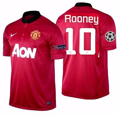 Nike Rooney Manchester United UEFA Champions League Home Jersey 2013/14 532837-624