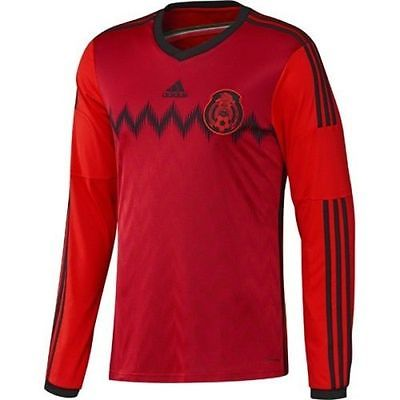 ADIDAS MEXICO LONG SLEEVE AWAY JERSEY FIFA WORLD CUP BRAZIL 2014.
