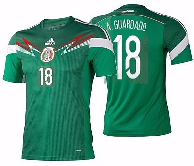 ADIDAS ANDRES GUARDADO MEXICO AUTHENTIC ADIZERO HOME JERSEY FIFA WORLD CUP 2014.