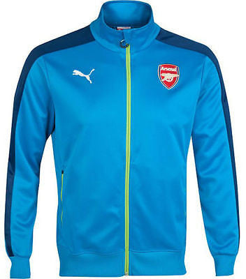 PUMA ARSENAL T7 ANTHEM JACKET METHYL BLUE-ESTATE BLUE-LIME GREEN