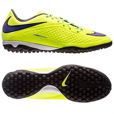 NIKE HYPERVENOM PHELON TF TURF SOCCER SHOES Volt/Hot Lava/Persian Violet