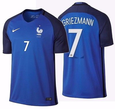 NIKE ANTOINE GRIEZMANN FRANCE HOME JERSEY EURO 2016.