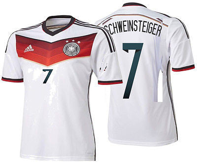 ADIDAS B. SCHWEINSTEIGER GERMANY AUTHENTIC ADIZERO HOME JERSEY FIFA WORLD CUP 2014