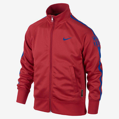 NIKE FC BARCELONA YOUTH TRACK JACKET Light Crimson/Loyal Blue 0