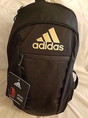 ADIDAS ESTADIO IV TEAM BACKPACK BALL CARRIER Black/Metallic Gold.