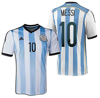ADIDAS ARGENTINA L. MESSI AUTHENTIC HOME PLAYERS JERSEY WORLD CUP BRAZIL 2014