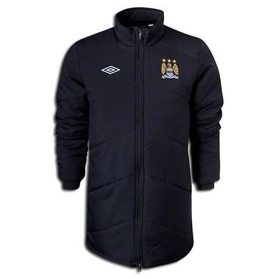 UMBRO MANCHESTER CITY TRAINING PADDED JACKET Black/White.