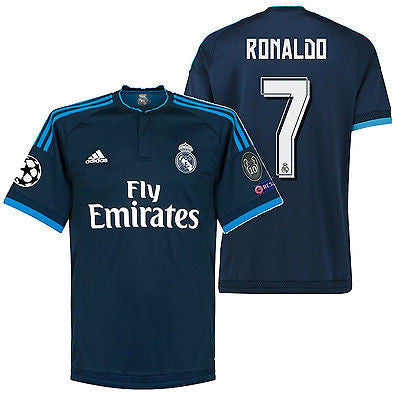 ADIDAS CRISTIANO RONALDO REAL MADRID UEFA CHAMPIONS LEAGUE THIRD JERSEY 2015/16 3
