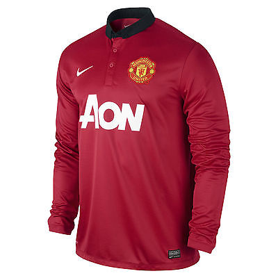 NIKE MANCHESTER UNITED LONG SLEEVE HOME JERSEY 2013/14.