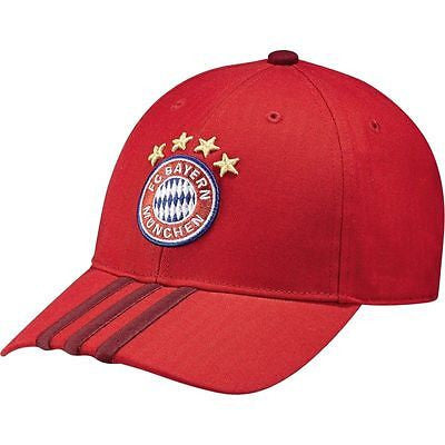 ADIDAS BAYERN MUNICH 3-STRIPES CAP ONE SIZE.