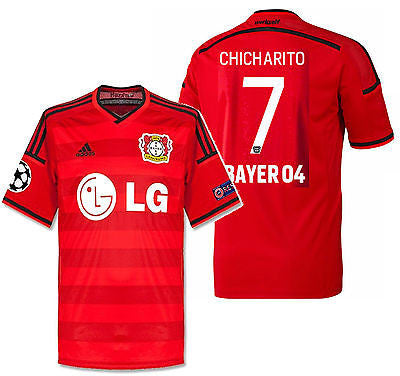 ADIDAS CHICHARITO BAYER LEVERKUSEN UEFA CHAMPIONS LEAGUE AWAY JERSEY 2015/16
