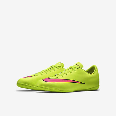 09269f6565a ... NIKE MERCURIAL VICTORY V IC JUNIOR YOUTH INDOOR SOCCER FUTSAL SHOES  Volt Black H ...
