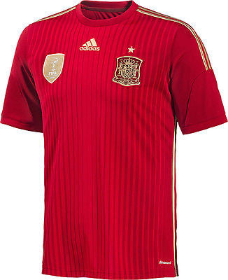 ADIDAS SPAIN HOME JERSEY FIFA WORLD CUP BRAZIL 2014
