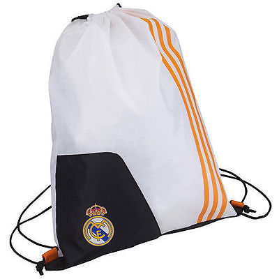 ADIDAS REAL MADRID SACKPACK GYM SACK White.