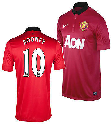 NIKE W. ROONEY MANCHESTER UNITED HOME JERSEY 2013/14