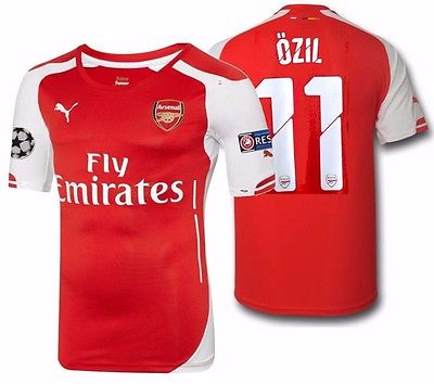 PUMA MESUT OZIL ARSENAL AUTHENTIC PLAYERS MATCH HOME UEFA CL JERSEY 2014/15.