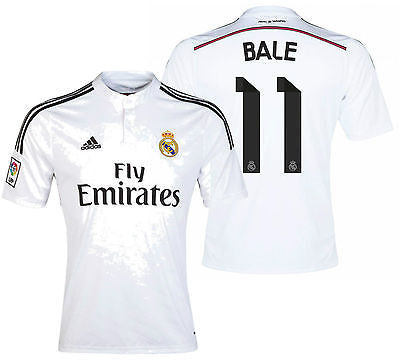 ADIDAS GARETH BALE REAL MADRID HOME JERSEY 2014/15