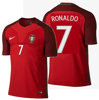 NIKE RONALDO PORTUGAL VAPOR MATCH AUTHENTIC HOME JERSEY EURO 2016 PLAYER VERSION