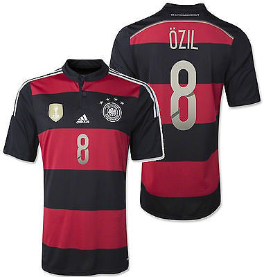 ADIDAS MESUT OZIL GERMANY 4 STAR AWAY JERSEY FIFA WORLD CUP 2014 CHAMPION