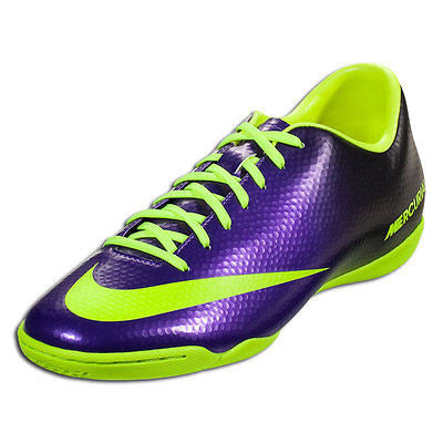 NIKE MERCURIAL VICTORY IV IC INDOOR SOCCER SHOES FOOTBALL Electro Purple/Volt/Bl