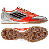 ADIDAS F10 IN INDOOR SOCCER SHOES FUTSAL Metallic Silver/Infrared.