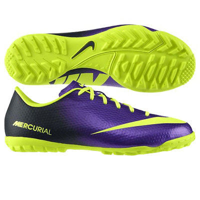 NIKE MERCURIAL VICTORY IV TF TURF SOCCER SHOES Electro Purple.