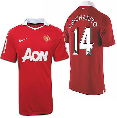 NIKE CHICHARITO MANCHESTER UNITED HOME JERSEY 2010/11.