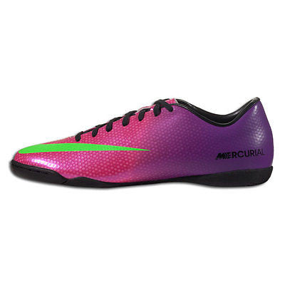 7bcb7cb74b5 ... NIKE MERCURIAL VICTORY IV IC INDOOR SOCCER SHOES FOOTBALL Fire Berry Red  Plum Bl