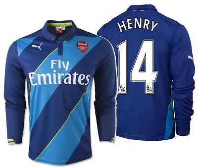 PUMA THIERRY HENRY ARSENAL LONG SLEEVE THIRD JERSEY 2014/15.