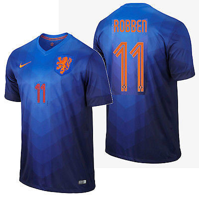NIKE ARJEN ROBBEN NETHERLANDS AWAY JERSEY WORLD CUP BRAZIL 2014 HOLLAND DUTCH