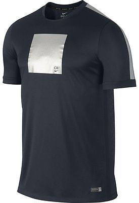 NIKE CR7 CRISTIANO RONALDO FLASH TRAINING TOP Black/Silver.